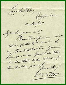 Talbots correspondencesearch the letters talbot letter 12 nov 1845 doc no 05441 altavistaventures Choice Image